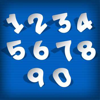 vector numbers set background - vector gratuit #132699