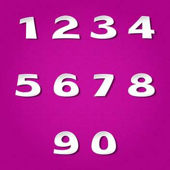 vector numbers set background - vector gratuit #132709