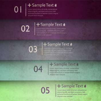 business option numeric banners - vector gratuit #132719