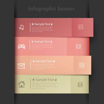 business option numeric banners - vector gratuit #132729