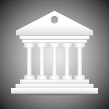 classical style white marble temple - Free vector #132769