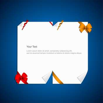 vector gift card with ribbons - Free vector #132789