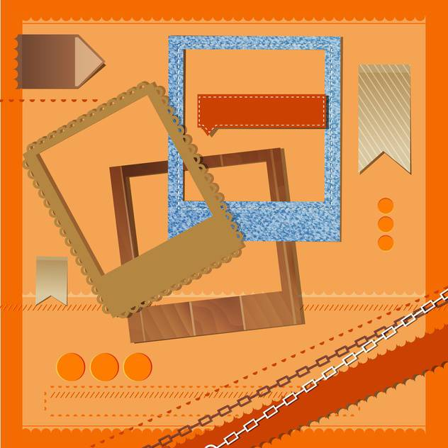 different vector photo frames and ribbons - бесплатный vector #132829