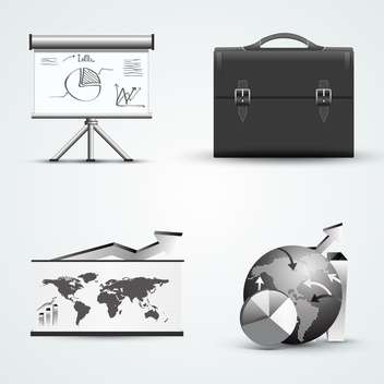 different business icons set - vector gratuit #132869