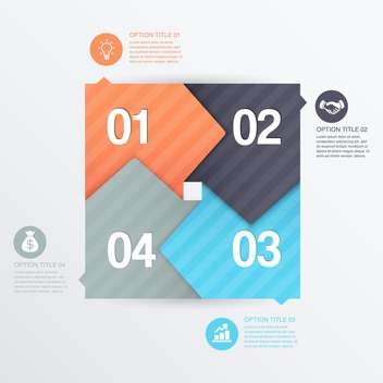 business process steps background - vector gratuit #132969