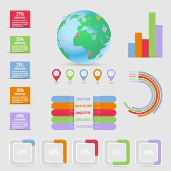 business infographic elements set - vector gratuit #132979