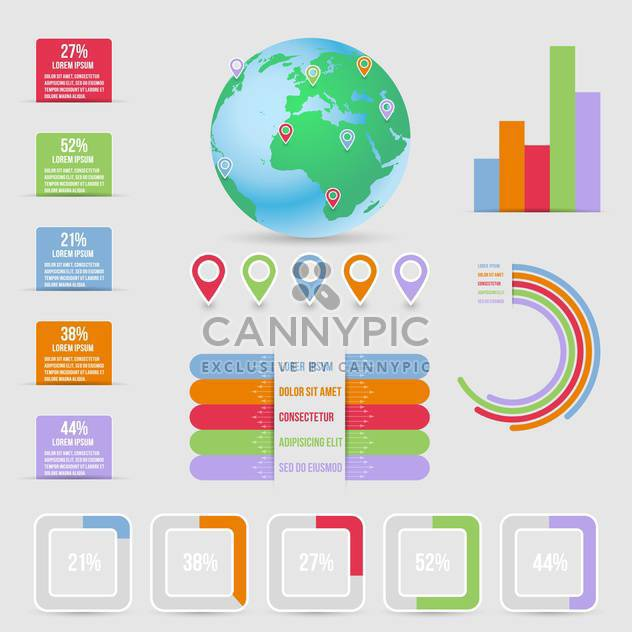 business infographic elements set - Kostenloses vector #132979