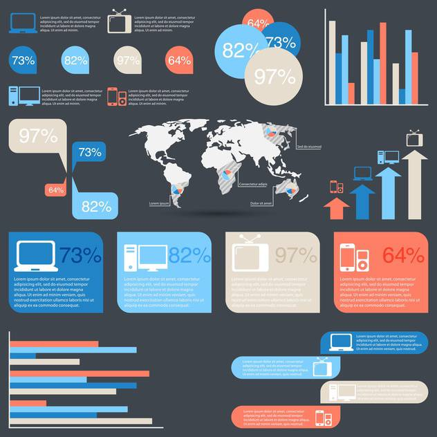 business infographic elements set - Free vector #132989