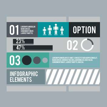 business infographic elements set - vector gratuit #133009