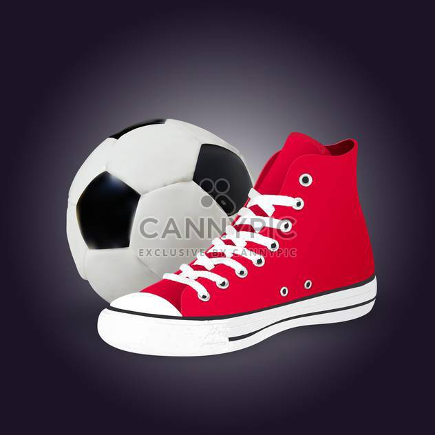 soccer ball and shoe illustration - Free vector #133019