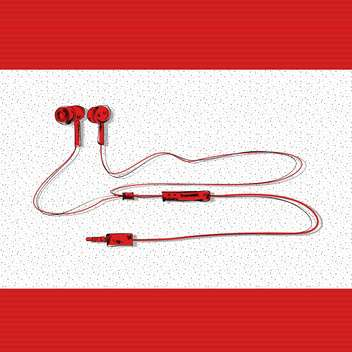 vector illustration of stereo headphones - vector gratuit #133039