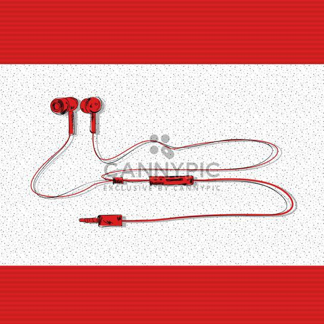 vector illustration of stereo headphones - Free vector #133039