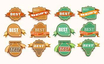 vector vintage labels set - vector gratuit #133069