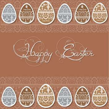 happy easter card background - vector gratuit #133089