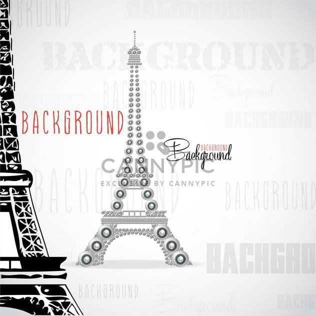 eiffel tower made of webcams - vector gratuit #133099