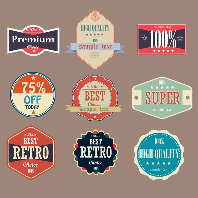 collection of vintage high quality labels - Free vector #133149