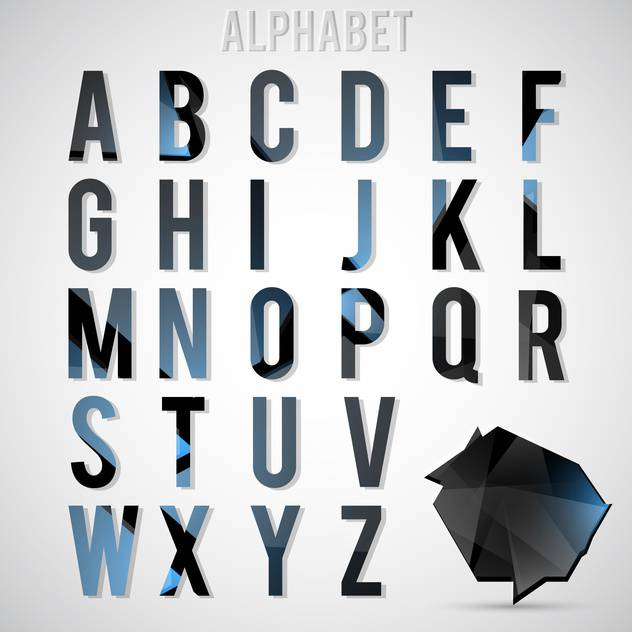 vector alphabet letters set - vector #133159 gratis