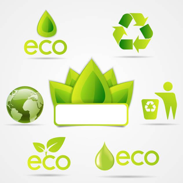 eco symbols icons set - Free vector #133169