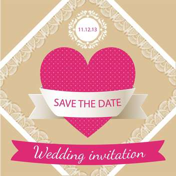 wedding invitation card background - vector #133279 gratis