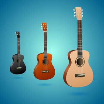 set of vector acoustic guitars - Free vector #133289