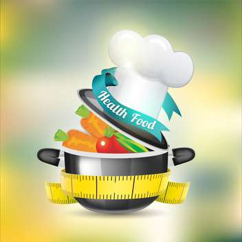 healthy food vector background - vector gratuit #133389