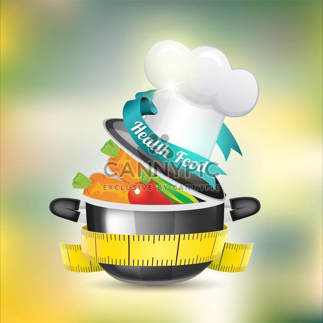 healthy food vector background - Free vector #133389