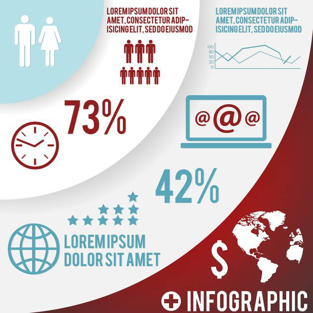 set elements of business infographics - Free vector #133409