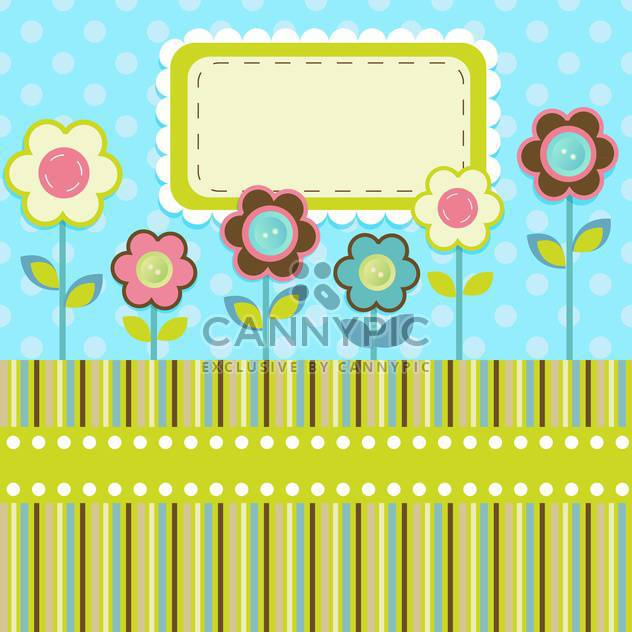 vector floral invitation background - Free vector #133439