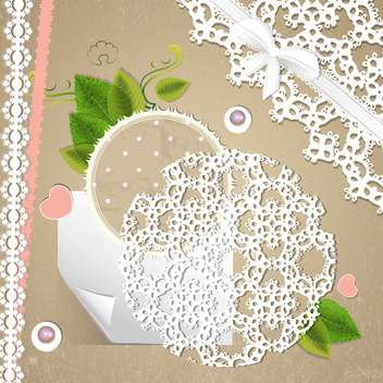vector floral invitation background - vector gratuit #133459