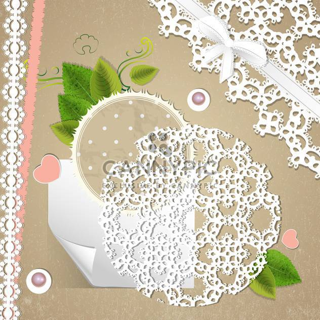 vector floral invitation background - Free vector #133459