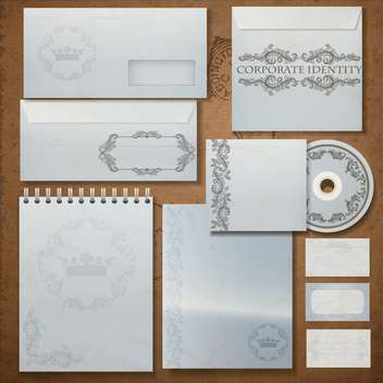 Vintage corporate identity set - Kostenloses vector #133469