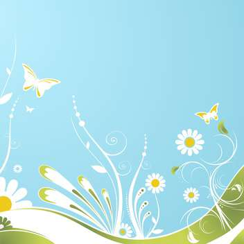 vector floral summer background - vector gratuit #133479