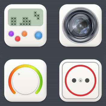vector icons set background - Free vector #133509