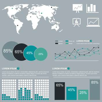 set of business infographic elements - vector gratuit #133529