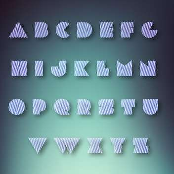 alphabet vector letters set background - vector #133549 gratis