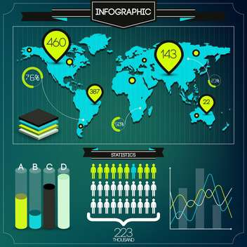 set of business infographic elements - vector gratuit #133559