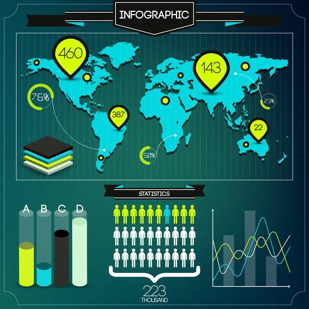 set of business infographic elements - vector #133559 gratis