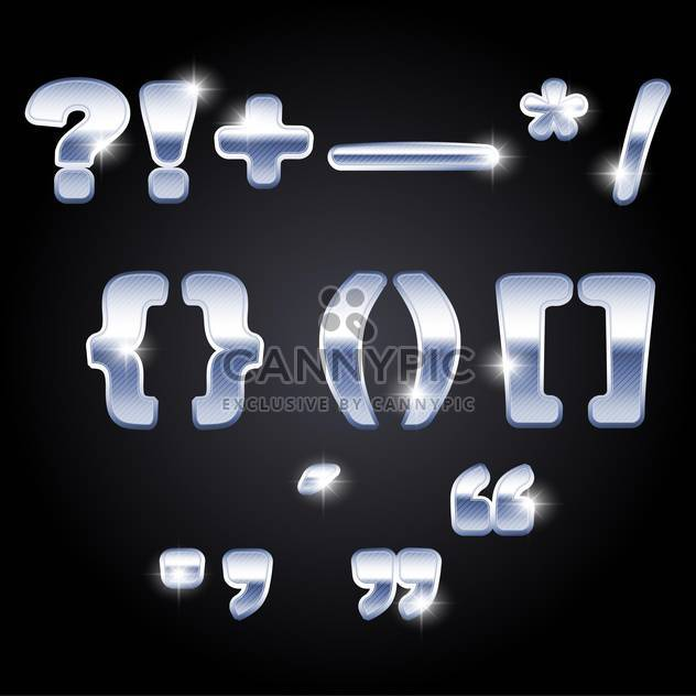 vector set of punctuation marks background - Free vector #133589