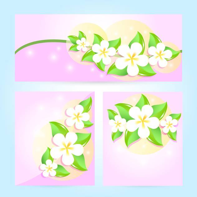 set of vector floral frames - vector gratuit #133629