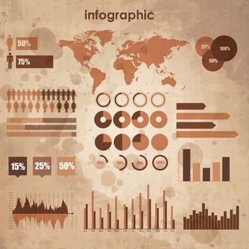 vintage set of business infographic - бесплатный vector #133639