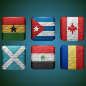 different countries flags set - vector gratuit #133649