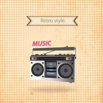 vector retro recorder background - vector gratuit #133719
