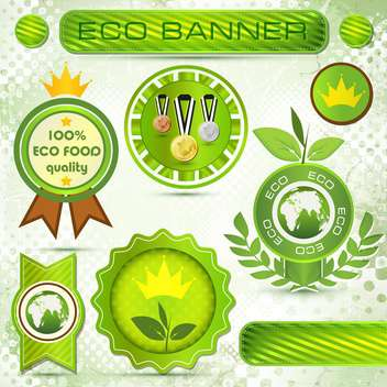 eco labels with vintage design - vector gratuit #133739