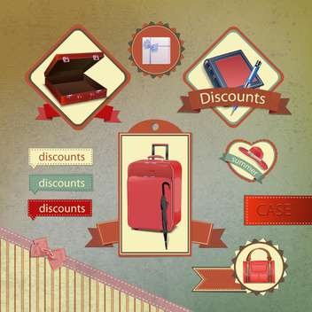 set of labels of shopping sale - vector gratuit #133809