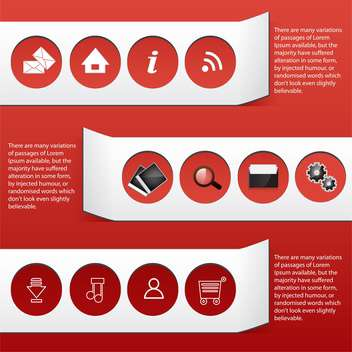 business web icons and tags - vector gratuit #133849