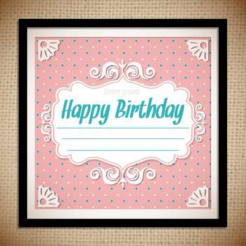 vintage birthday card background - vector gratuit #133859