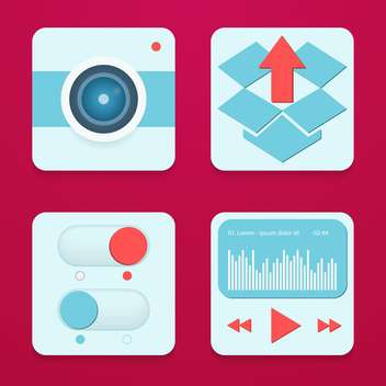 mobile phone apps and services icons - vector gratuit #133879