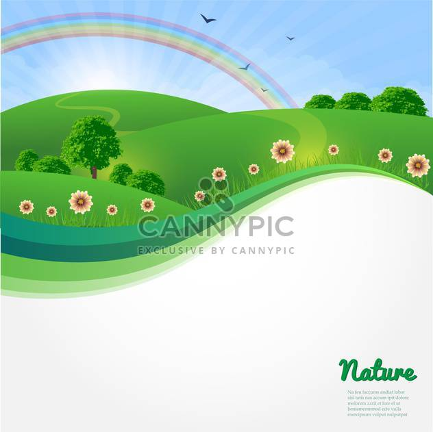 summer sunny landscape background - vector #133919 gratis