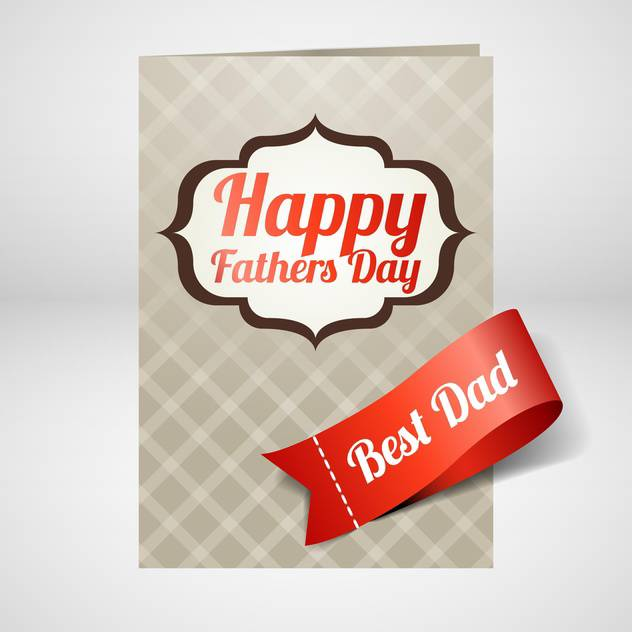 happy father's day card - бесплатный vector #133939