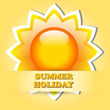 summer holiday vacation illustration - Free vector #133979